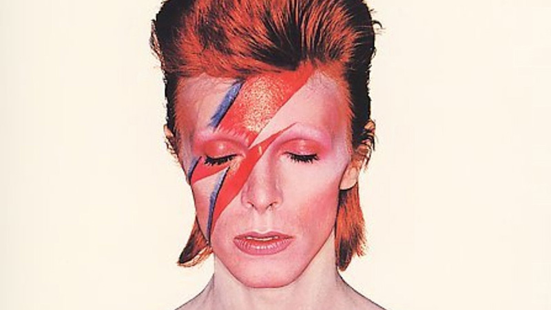 An image of David Bowie as Aladdin Sane