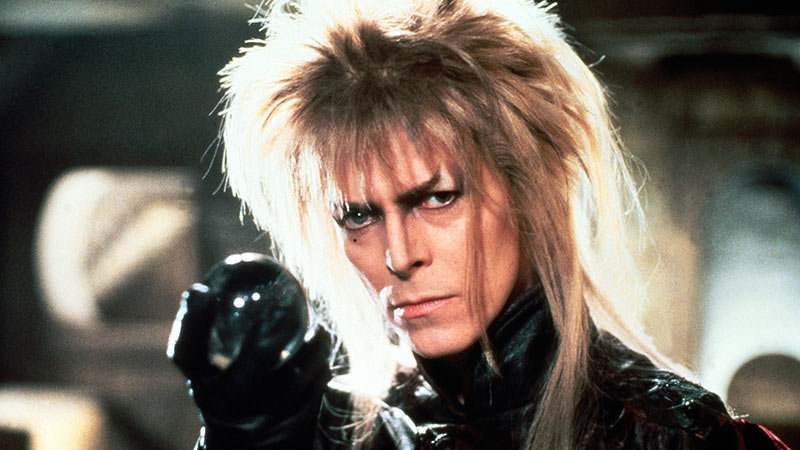 An image of David Bowie performing in the film Labyrinth