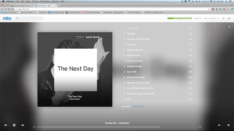 A second image from Rdio's interface