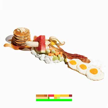 An image of the album artwork for Battles' La Di Da Di