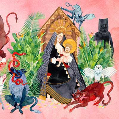 The album art for Father John Misty's I Love You, Honeybear