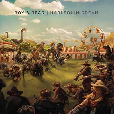 The album art for Boy & Bear's Harlequin Dream