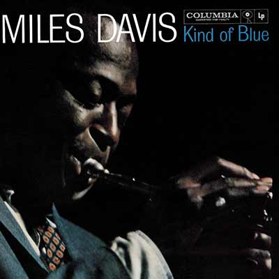 The album art for Miles Davis' Kind of Blue
