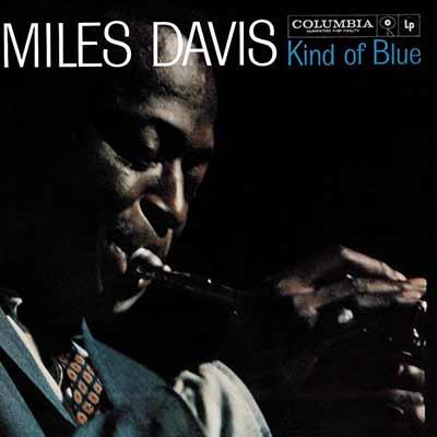 The album art for Miles Davis' Kind of Blue