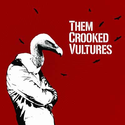 The album art for Them Crooked Vultures' self-titled debut
