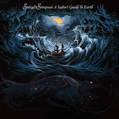 The album art for Sturgill Simpson's A Sailor's Guide to Earth