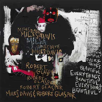 The album art for Miles Davis' and Robert Glasper's Everything's Beautiful