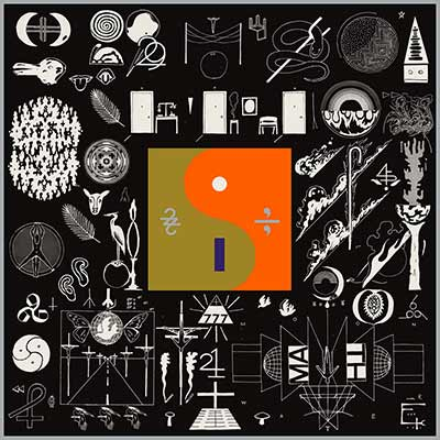 The album art for Bon Iver's 22, A Million